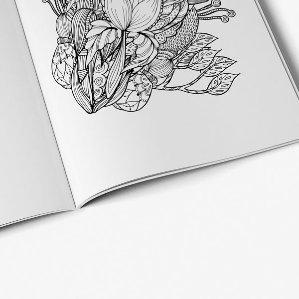 Mothers day coloring book for adults