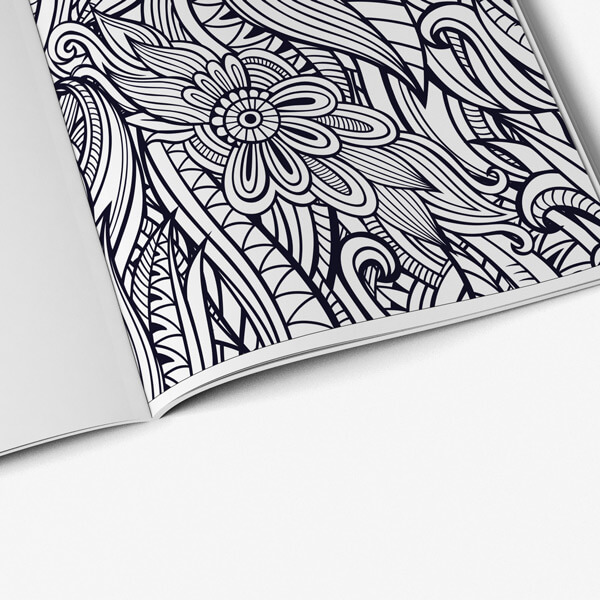 Coloring Book for Seniors: Floral Designs Vol 1