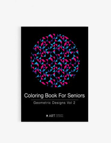Coloring Book for Seniors: Geometric Designs Vol 2