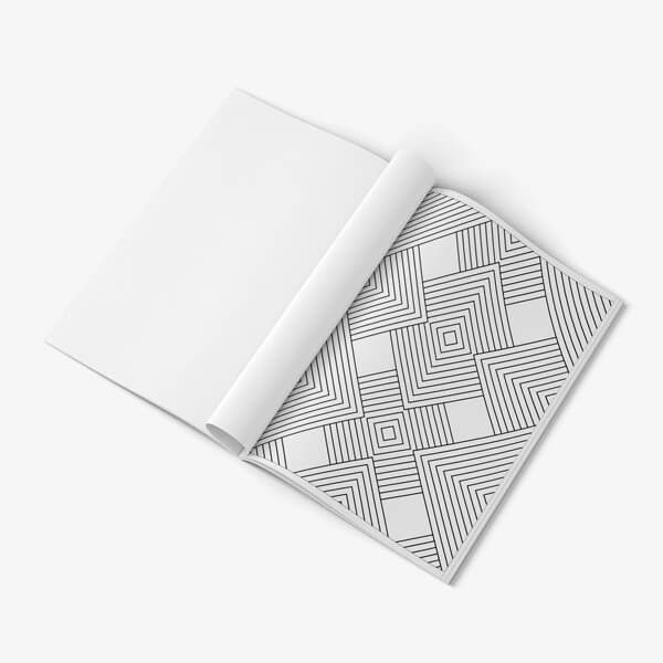 Coloring Book for Seniors: Geometric Designs Vol 3