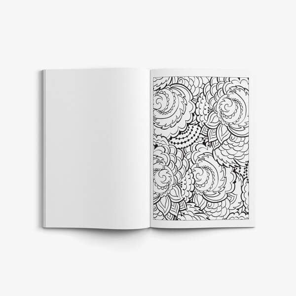 Coloring Book for Seniors: Nature Designs Vol 2