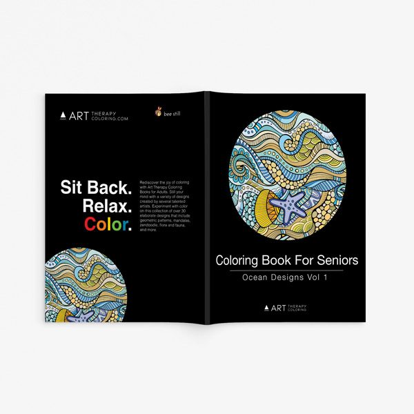 Coloring Book for Seniors: Ocean Designs Vol 1