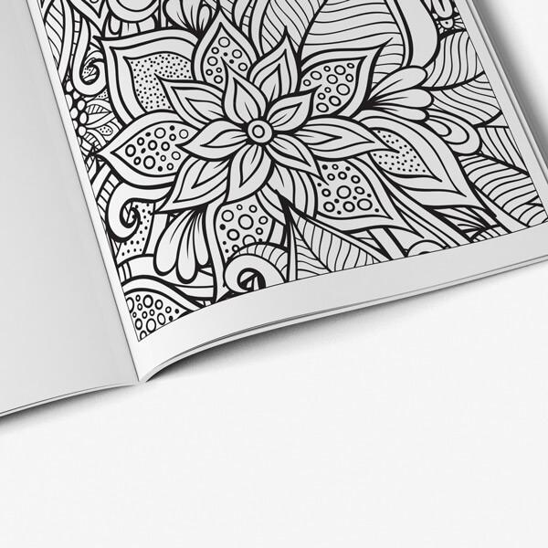 Coloring Book for Seniors: Anti-Stress Designs Vol 4