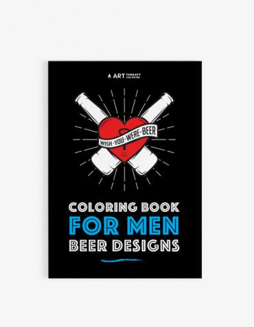 Coloring book for men: beer designs