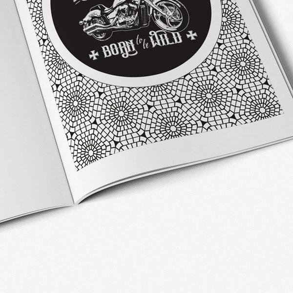 Coloring book for men: Biker Designs
