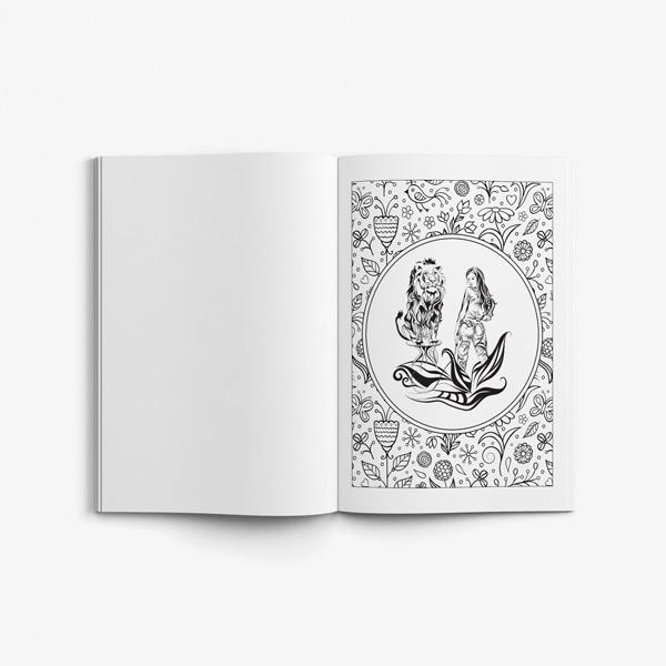 Coloring book for men: Erotic forest - Art Therapy Coloring