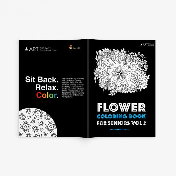 Flower coloring book for seniors vol 2