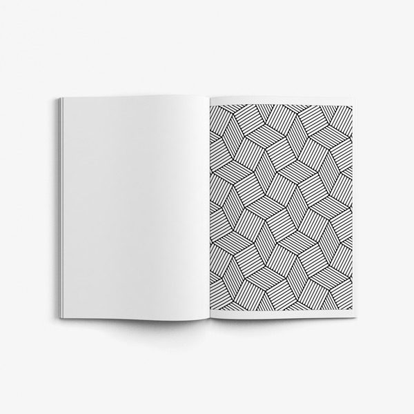 Geometric coloring book for teens