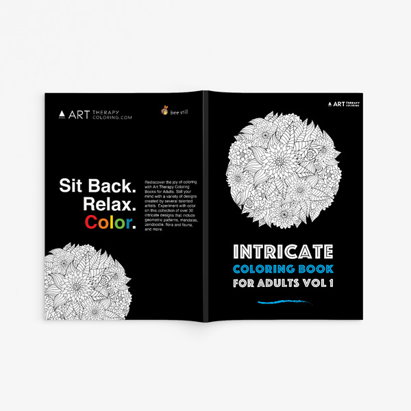 Intricate coloring book adults for vol 1