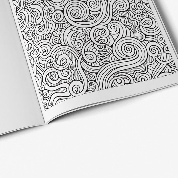 Intricate coloring book adults for vol 6 - Art Therapy Coloring