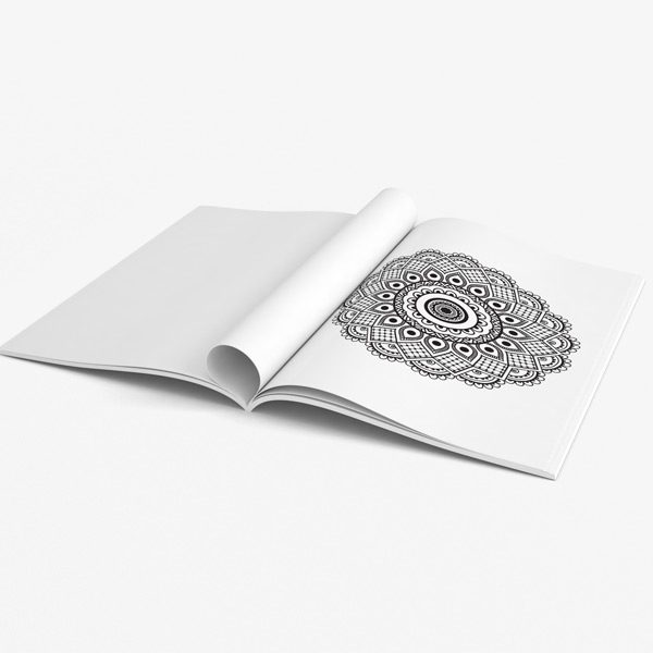 Mandala coloring book for seniors