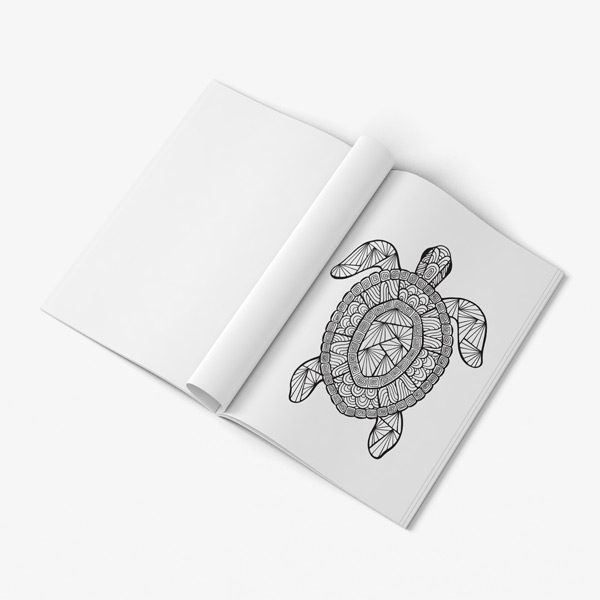 Ocean coloring book for seniors men
