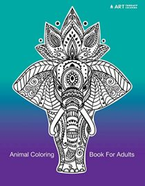 Animal Coloring Book for Adults Black Background
