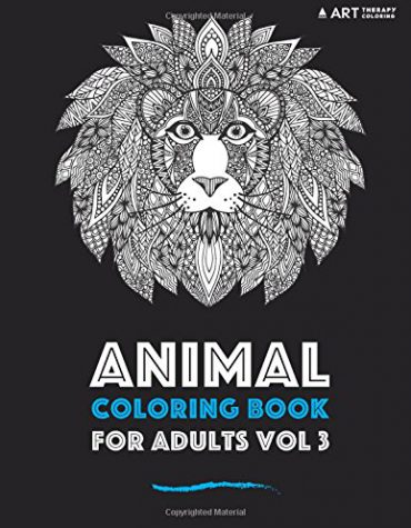Animal coloring book for adults vol 3