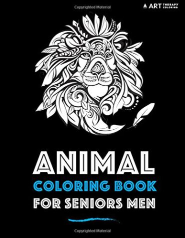 Animal Coloring Book For Seniors Men