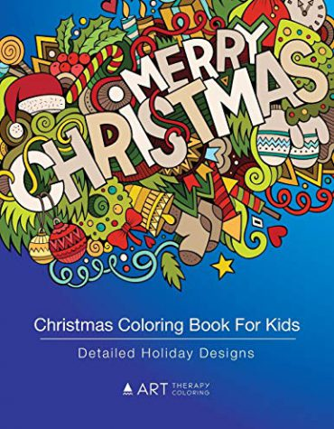 Christmas Coloring Book For Kids: Detailed Holiday Designs