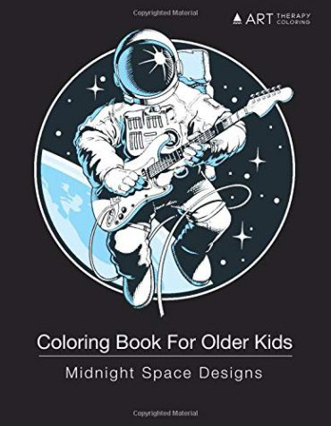 Coloring Book For Older Kids: Midnight Space Designs: Outer Space Colouring For Boys & Girls of All Ages