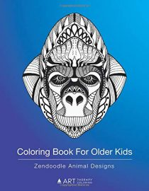 Coloring Book For Older Kids: Zendoodle Animal Designs: Colouring Pages For Boys & Girls of All Ages