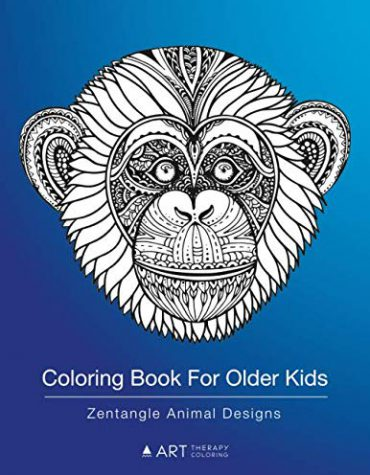 Coloring Book For Older Kids: Zentangle Animal Designs: Detailed Zendoodle Pages For Boys and Girls
