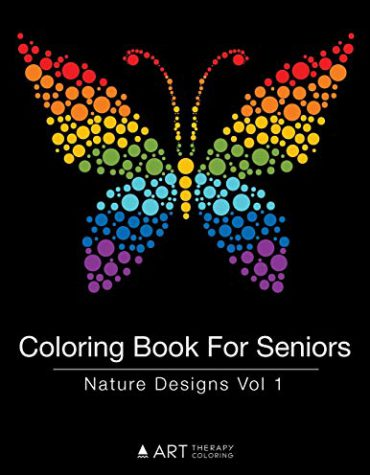 Coloring Book for Seniors: Nature Designs Vol 1