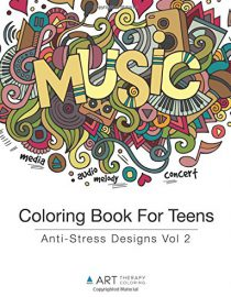 Coloring Book For Teens: Anti-Stress Designs Vol 2