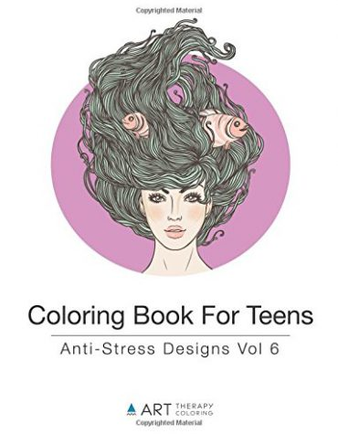 Coloring Book For Teens: Anti-Stress Designs Vol 6