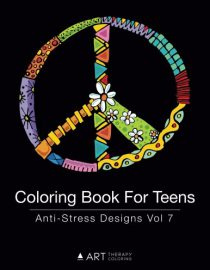 Coloring Book For Teens: Anti-Stress Designs Vol 7