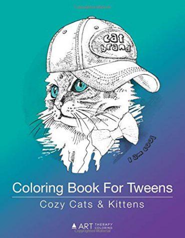 Coloring Book For Tweens: Cozy Cats & Kittens: Zendoodle Animals for Teens & Older Kids