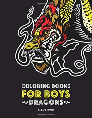 Coloring Books For Boys: Dragons: Advanced Coloring Pages for Teenagers, Tweens, Older Kids & Boys