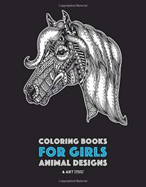 Coloring Books for Girls: Animal Designs: Detailed Drawings for Older Girls & Teens Relaxation