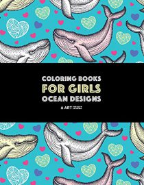 Coloring Books For Girls: Ocean Designs: Detailed Zendoodle Designs For Relaxation