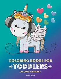 Coloring Books for Toddlers: 50 Cute Animals: Cute Animal Colouring Book for Girls or Boys