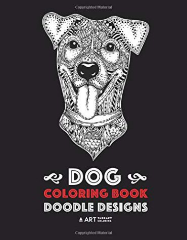Dog Coloring Book: Doodle Designs: Multiple Dog Breeds Designs, Great Gifts for Dog Lovers of All Ages, Men, Women and Kids