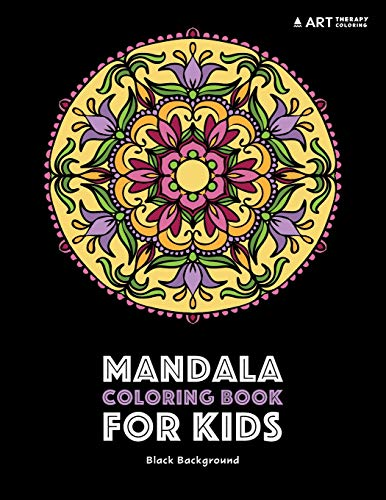Mandala Coloring Book For Kids: Black Background: Detailed Designs For Relaxation