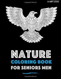 Nature Coloring Book For Seniors Men