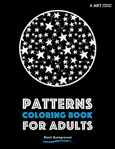 Patterns coloring book adults black background