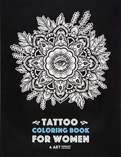 Tattoo Coloring Book For Women: Detailed Tattoo Designs of Lion, Owl, Butterfly, Birds, Flowers and More