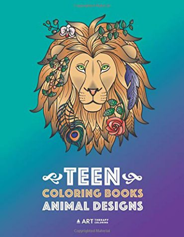 Teen Coloring Books: Animal Designs: Colouring Book for Teenage Boys and Girls