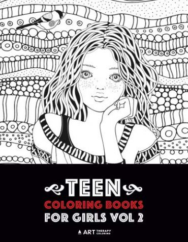 Teen Coloring Books For Girls: Vol 2: Detailed Drawings for Older Girls & Teenagers