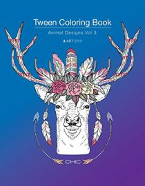 Tween Coloring Book: Animal Designs Vol 3: Colouring Book for Young Adults
