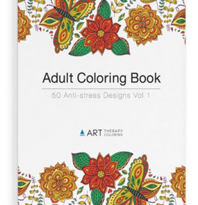 art therapy anti stress coloring book front cover