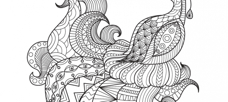 free peacock coloring page for adults - Art Therapy Coloring Pages