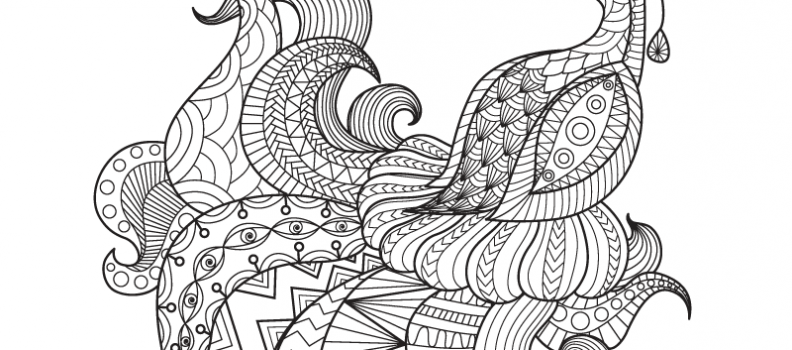 Animal coloring pages archives art therapy coloring for Adult coloring pages peacock
